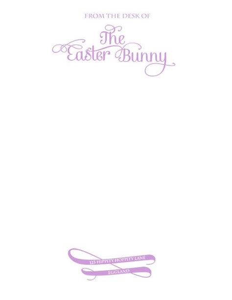easter bunny letter template free freebies 171 the sassy stationary easter bunny stationary and easter