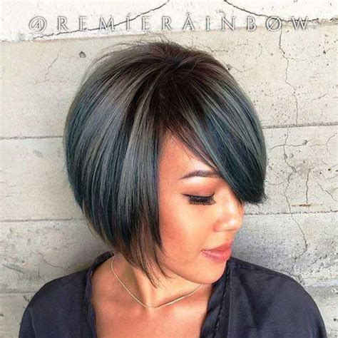 short bobs hairstyle with side swoop pretty short bob hairstyles with side swept bangs bob