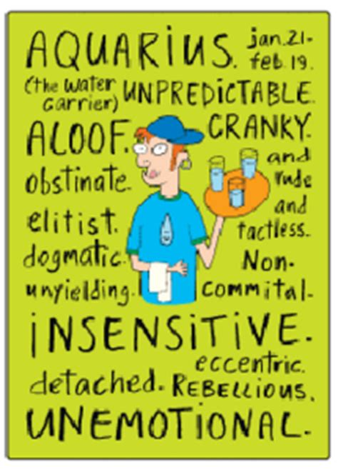 aquarius zodiac sign negative traits fridge magnet