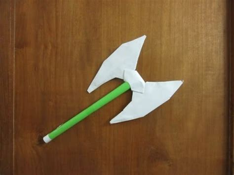 How To Make A Axe Out Of Paper - how to make a paper headed battle axe easy paper