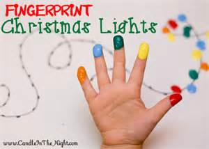 adorable fingerprint christmas lights candle in the night