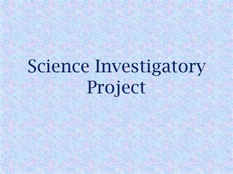science investigatory project research paper exle science investigatory project
