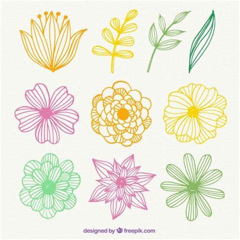 Garten Blumen Pflanzen 1734 by Gezeichnet Bunten Blumen Der Kostenlosen
