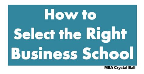 How To Select A College For Mba by How To Select The Right Business Schools For Your Mba