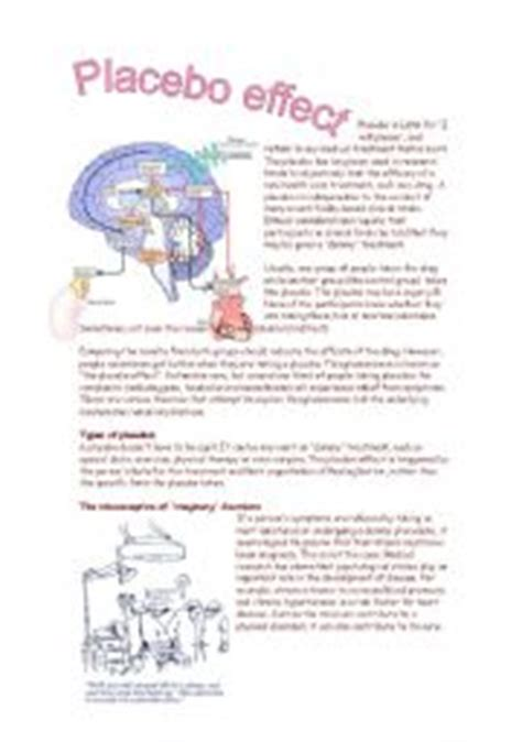 placebo effect research paper worksheet placebo effect reading