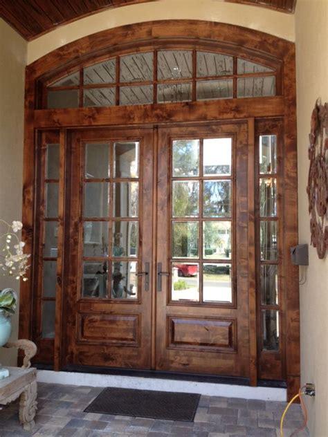 custom best wood exterior door with narrow glass panels best 25 solid wood front doors ideas on wood
