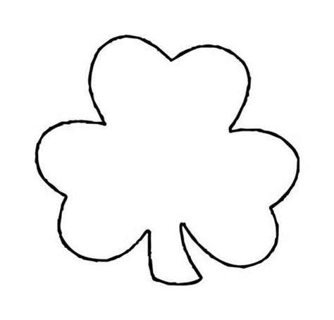 clover flower template printable flower stencil clipart best