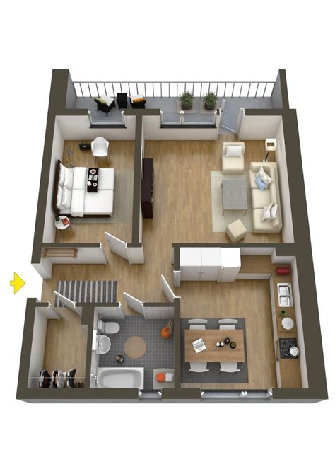 floor plan lay out 40 more 1 bedroom home floor plans