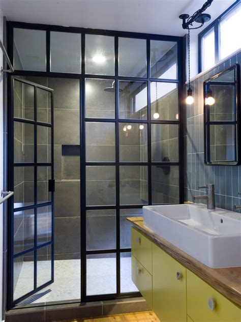 industrial shower door what are the shower doors made of did you make them