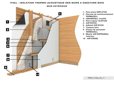 Isolation Plafond Bois by Isolation Phonique Mur Ossature Bois Isolation Id 233 Es