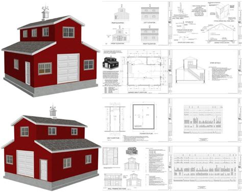 barn blueprints diy monitor pole barn kits plans free