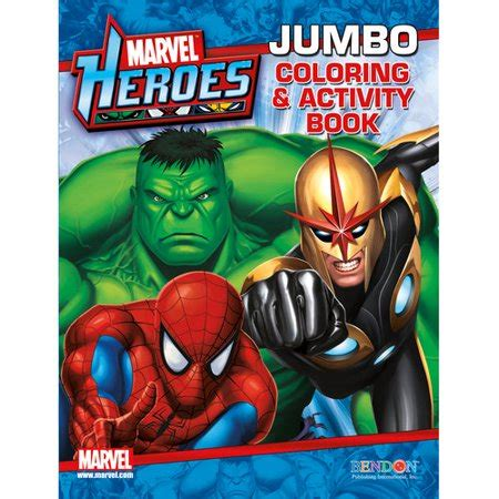 marvel coloring books marvel heroes jumbo coloring and activity book walmart