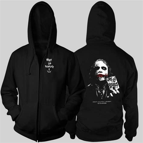 Zipper Hoodie Slipknot Anime batman joker heath ledger why so serious zipper hoodie