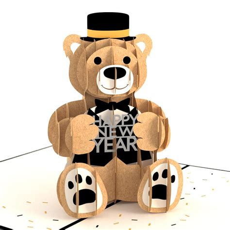 template new year tuxedo 3d card 3d new year tuxedo pop up card lovepop