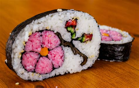 how to make flower food how to make flower sushi art amazing food recipe youtube