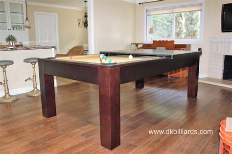 sleek dining pool table combo dk billiards service