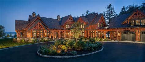 One Story Craftsman Style Homes by Timber Frame Timber Frame Home Exteriors New Energy Works