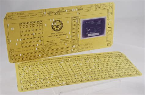 Aperture Card And Punched Card Comparison Museum Of