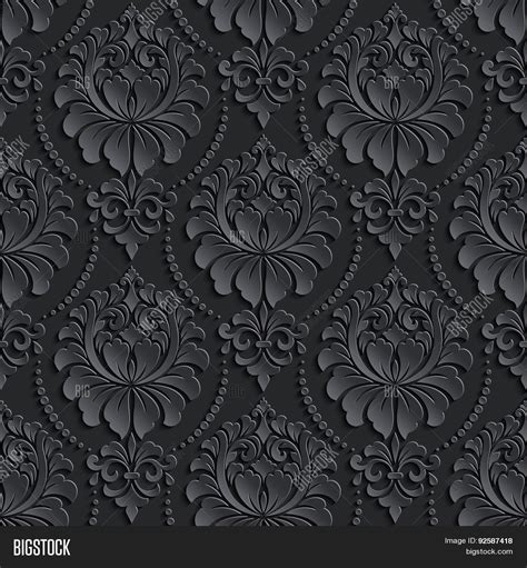 elegant wallpaper pattern black and white vector damask vector photo free trial bigstock