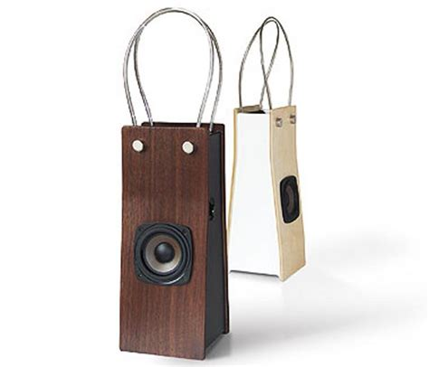 Your Ipod Would You More If You Carried It In One Of These Handbags by Funky Portable Ipod Speaker