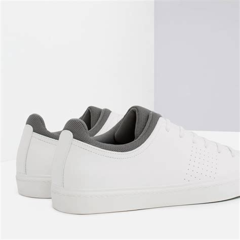 Zara Sneakers zara combined color sneakers in white for lyst