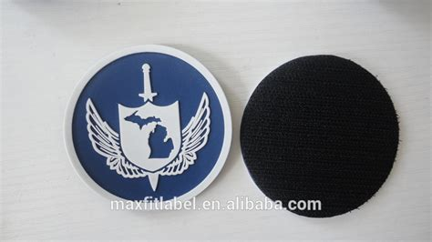 Diskon Patch Rubber Po Purchasing Order Special Design custom 3d embossed pvc rubber patch silicone badge with strong hook and loop backing buy