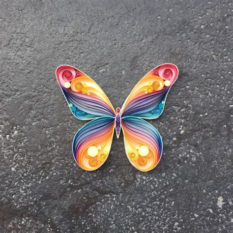 Butterfly With Paper - quilled paper butterfly by senaruna on etsy