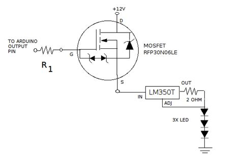 mosfet switch resistor help for resistor calculation mosfet switch