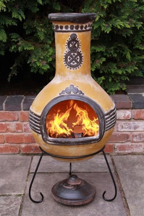 chiminea patio fireplace ideas  stay warm