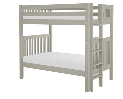 Bunk Beds With Ladder On The End Camaflexi Bunk Bed Mission Headboard