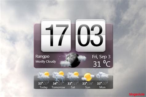 download htc sense clock and weather gadget for windows 7
