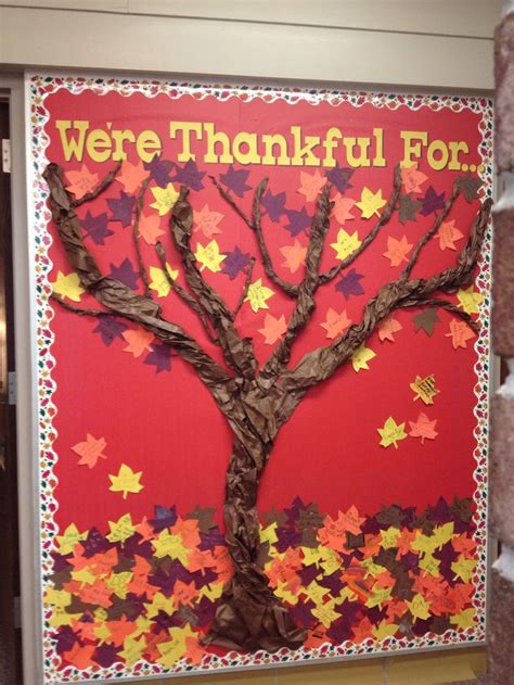 How Do They Make Paper From Trees - thanksgiving bulletin board twist butcher paper to make