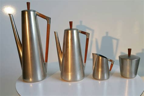 Coffee Maker Daalderop modernist four coffee or tea service royal pewter at 1stdibs