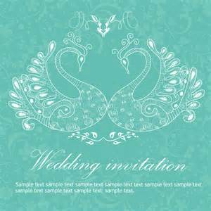 wedding invitation background templates free wedding invitation background peacocks free vector in