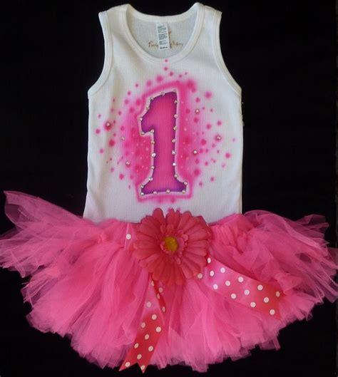 Set Pink Tutu by Pink 1st Birthday Tutu Set