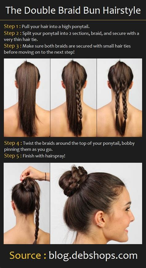 how to make hair buns from braids double braid bun hair tutorial hairstyles how to