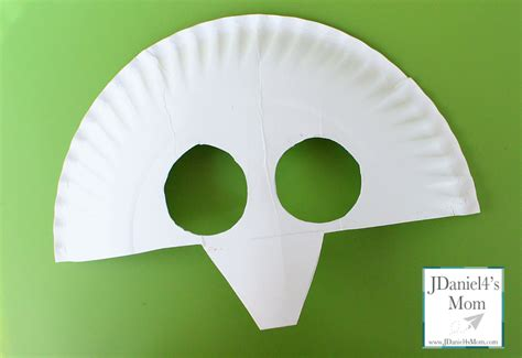 How To Make Masks Out Of Paper Plates - brown brown paper plate mask