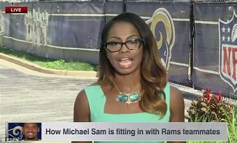 samantha 38g bathroom espn apologizes for michael sam report discussing his