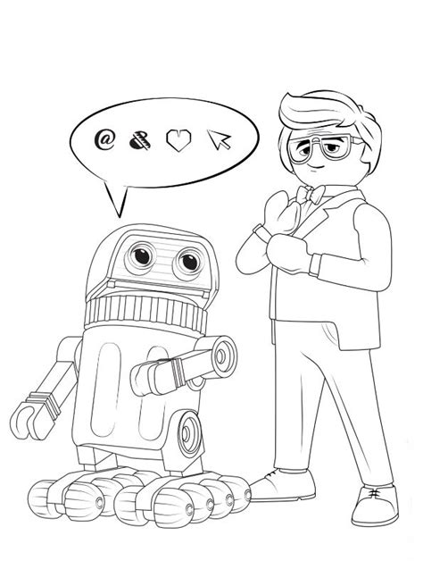 Kids-n-fun.de | Malvorlage Playmobil The Movie Rex Dasher