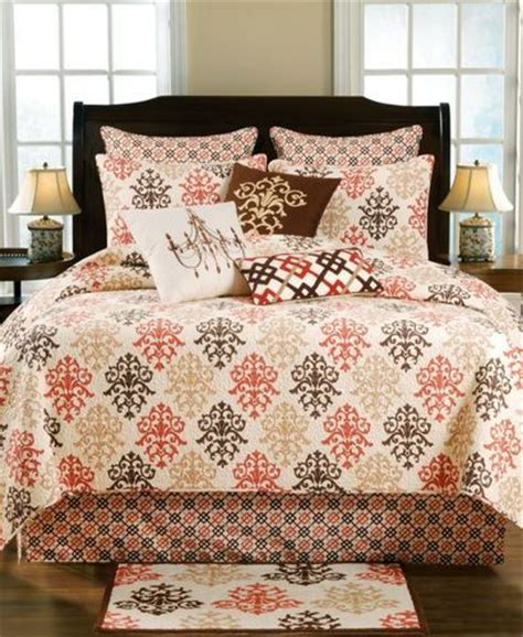 shabby chic brown quilt and bedding