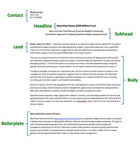 simple press release template pics for gt simple press release template