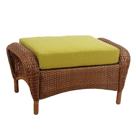 patio ottoman cushions martha stewart living charlottetown brown all weather