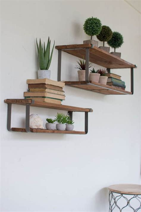 amazing floating shelves  create contemporary wall