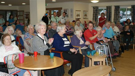 residents at hill house nursing home in farnham enjoy a