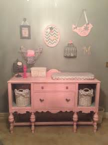 Pink Changing Table How To Turn Broken Drawer Spaces Into Cubby Holes