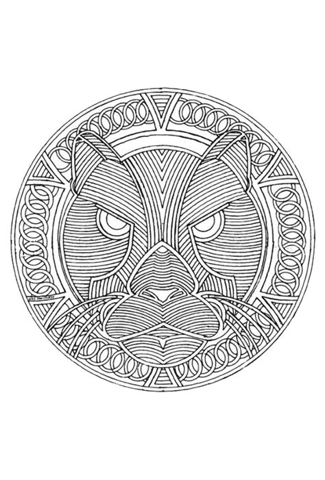 mandala pattern font mandala luipaard crafts fonts printables pinterest
