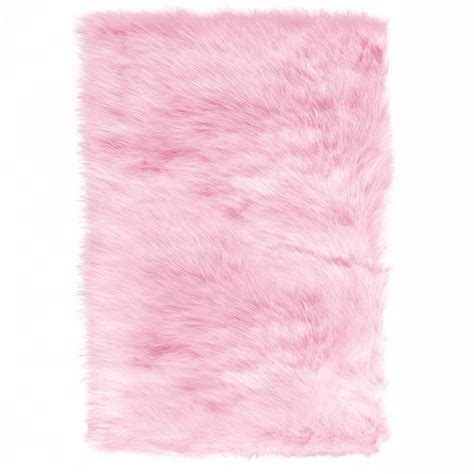 Pink Rugs Home Decorators Collection Faux Sheepskin Pink 5 Ft X 8