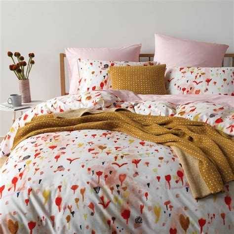 poppy bedding heirloom poppy duvet cover unison