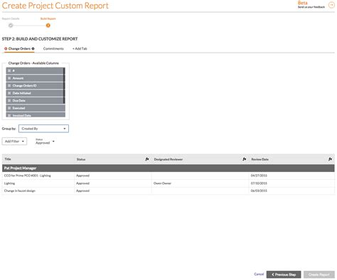 online tutorial project report create a custom project report procore