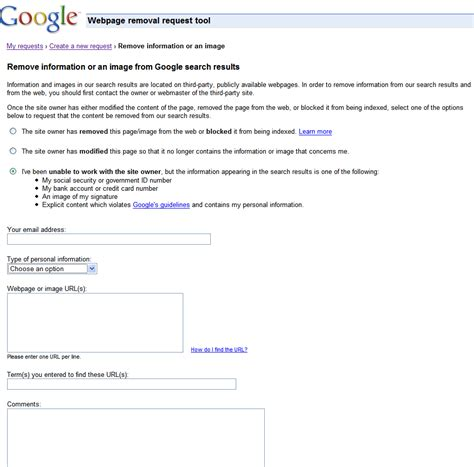Official Google Webmaster Central Blog Requesting Removal Of Content From Our Index Request Time Email Template